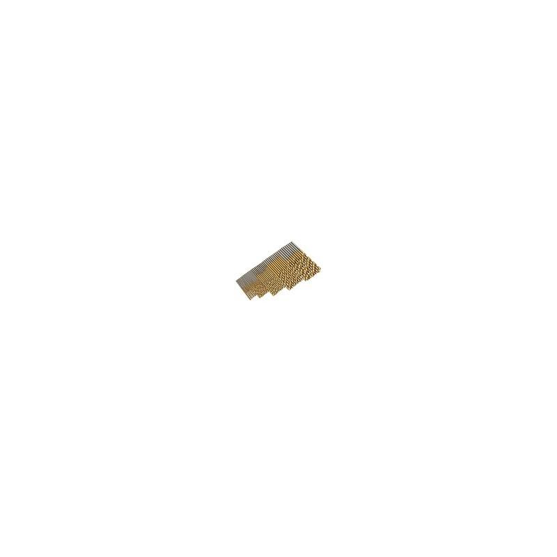 Kit 50 Mini Brocas Pequeñas HSS de Alta Velocidad 1mm 1.5mm 2mm 2.5mm 3mm