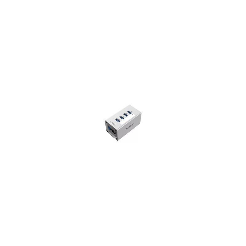 Hub Aluminum 4 Por USB 3.0 Orico 12v 2.5 A Power Adapter Alimentacion