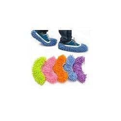 Zapatillas de Limpiar Trapeadora con cubierta de microfibra  Cleaner Slipper