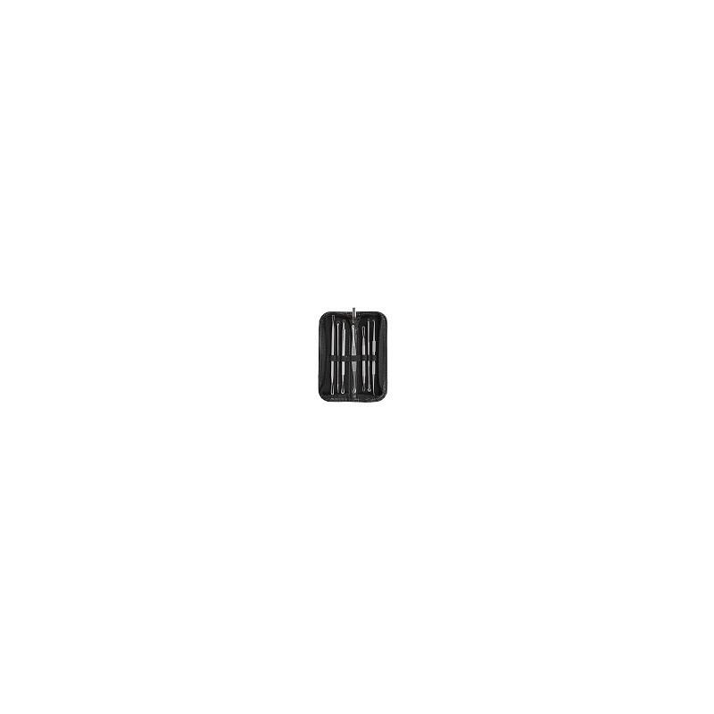 Kit 7 Extractores de Puntos Negros Espinillas Acne Con Funda