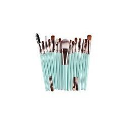 Kit 15 Cepilos Profesional Cosmeticos de Maquillaje Sombra de ojos Denileador de Labios