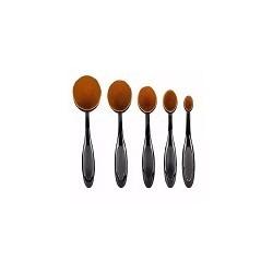 5 Pinceles y Borchas de Maquillaje Ovaladas Oval Brush