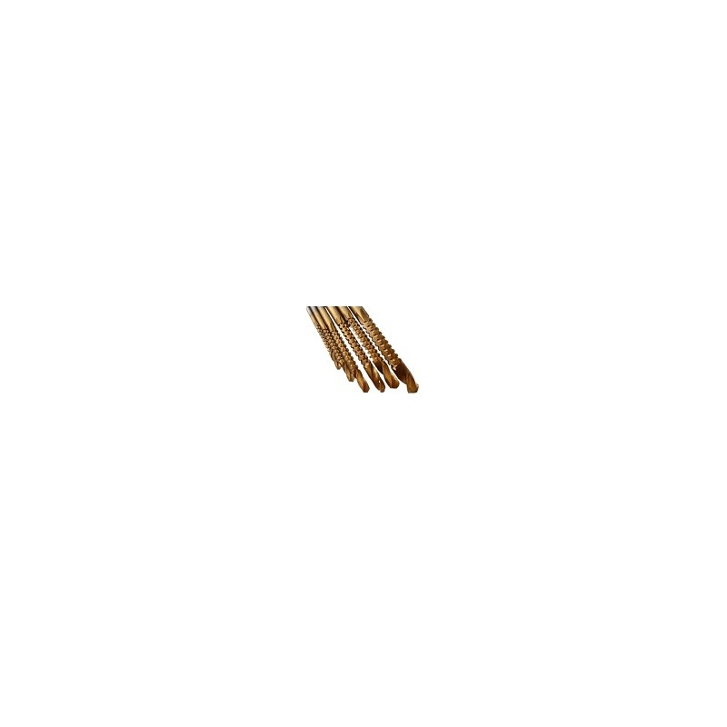 Set 6 Brocas Madera Metal Plastico 3-8mm