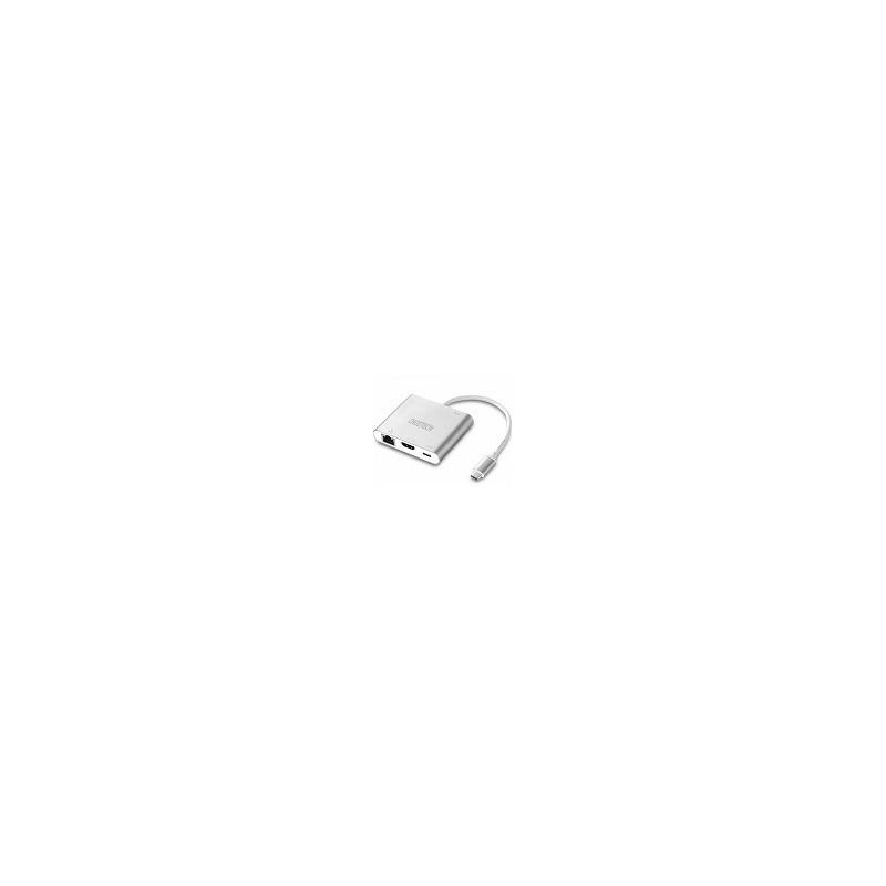 Adaptador USB 3.1 Type C a HDMI Ethernet Para MAC Chromebook