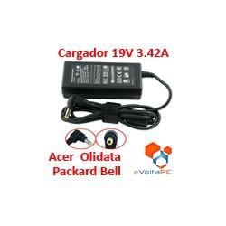 Cargador AC 19V 3.42A para Acer Packard Bell Olidata Asus