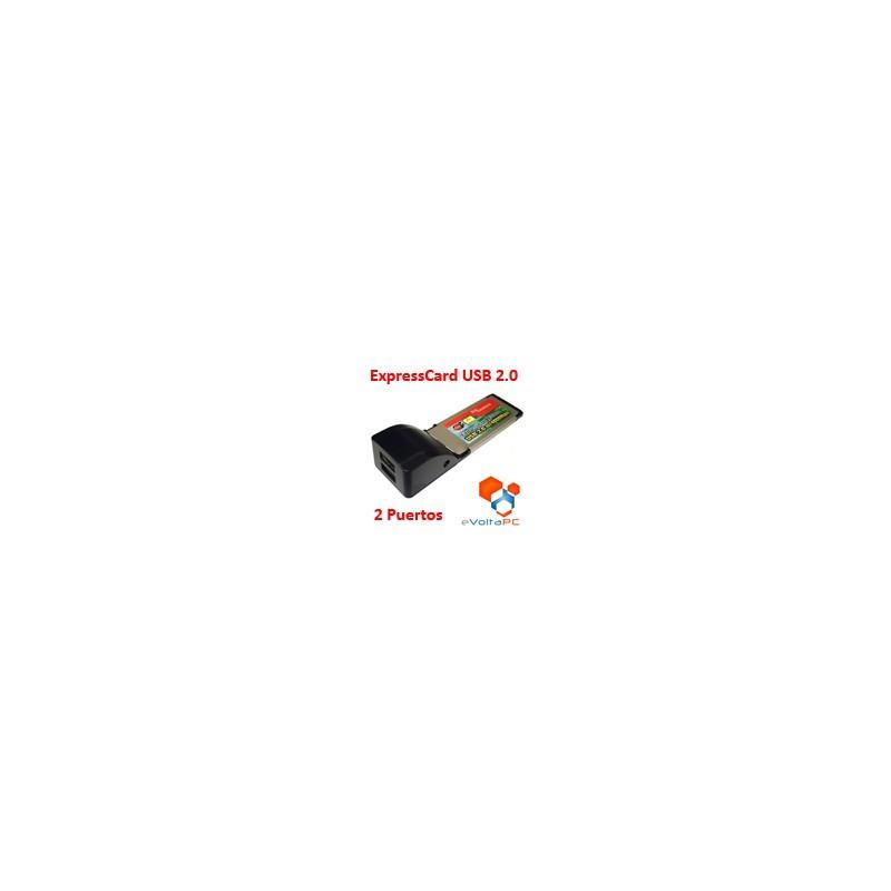 Tarjeta Adaptador ExpressCard USB 2.0 x 2 puertos 34mm