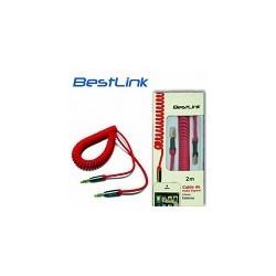 Cable de Audio en Espiral Conector 3.5 a 3.5 mm