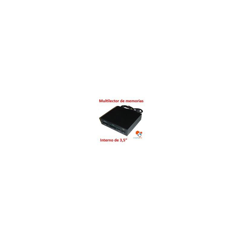 """Panel Multilector Grabador Interno para Gabinete 3,5"""" con USB"""