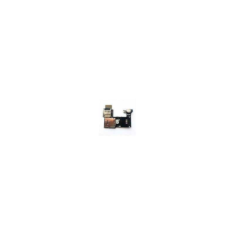 Flex Lector de Sim Micro SD Moto G2 Segunda GEN