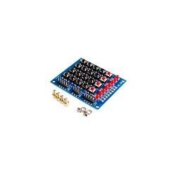 Teclado Matriz 4x4 + 4 botones + 8 LED Arduino PIC