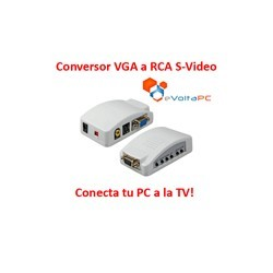 Conversor de VGA a RCA / S-Video Conecta el PC a la TV