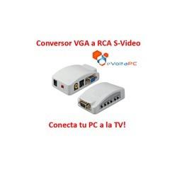 Conversor de VGA a RCA / S-Video Conecta el PC a la TV