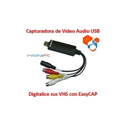 Capturadora de Audio Video USB EasyCap Digitalice sus VHS!
