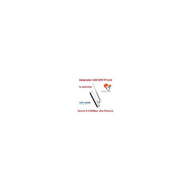 Adaptador USB Wifi TP-Link N 150 Mbps Antena TL-WN722N 4Dbi