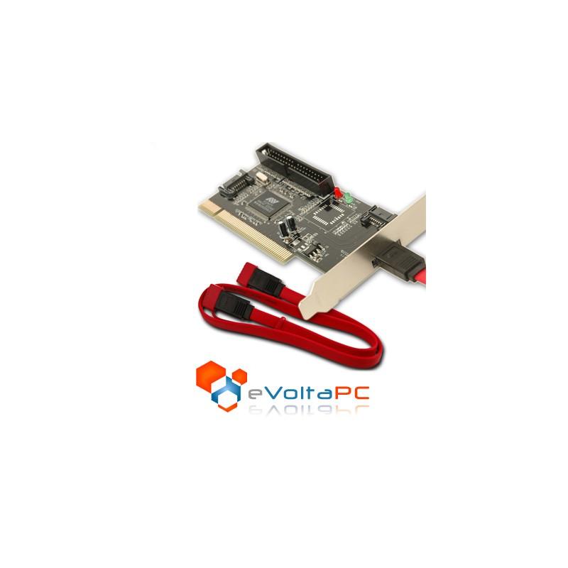 Tarjeta PCI a SATA e IDE 2+1