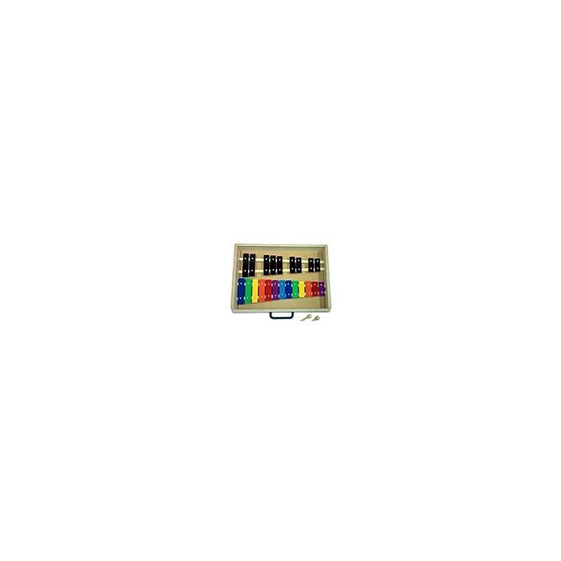 Metalofono 22 Notas Metalico Colores Diatonico Maleta