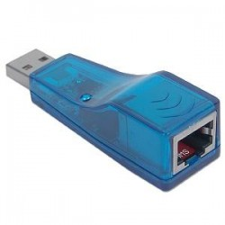 Adaptador de Red Ethernet USB A LAN 10/100 Mbps