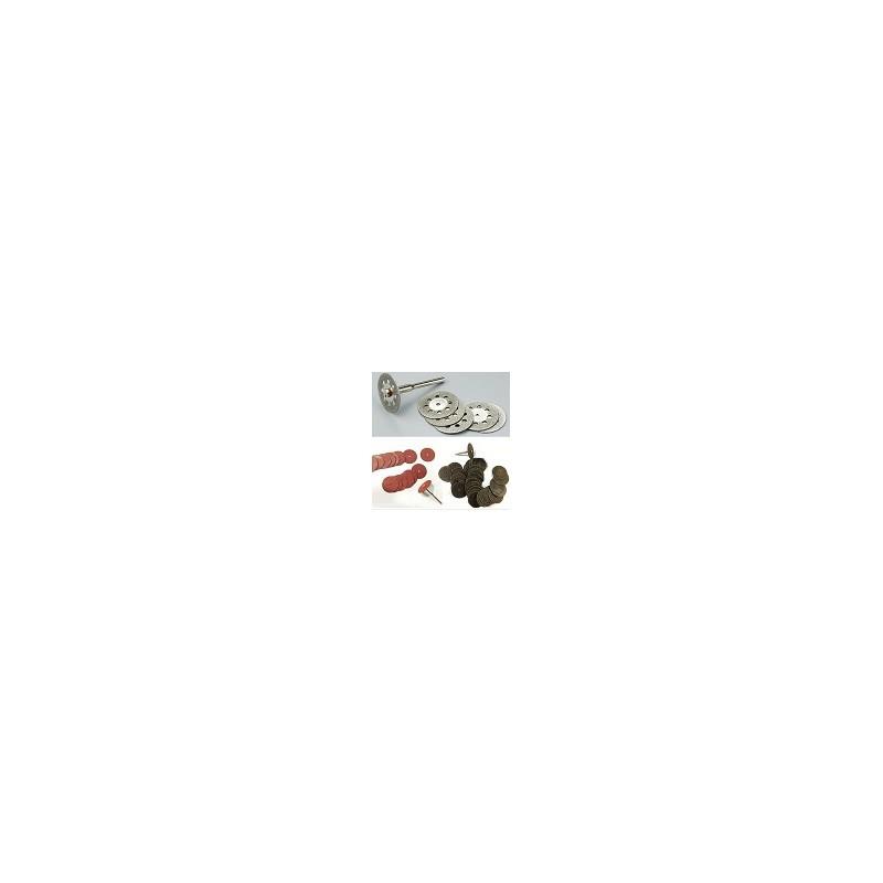 Kit 55 Mini Discos Dremel de Corte de diamante para Madera Lijado Metal