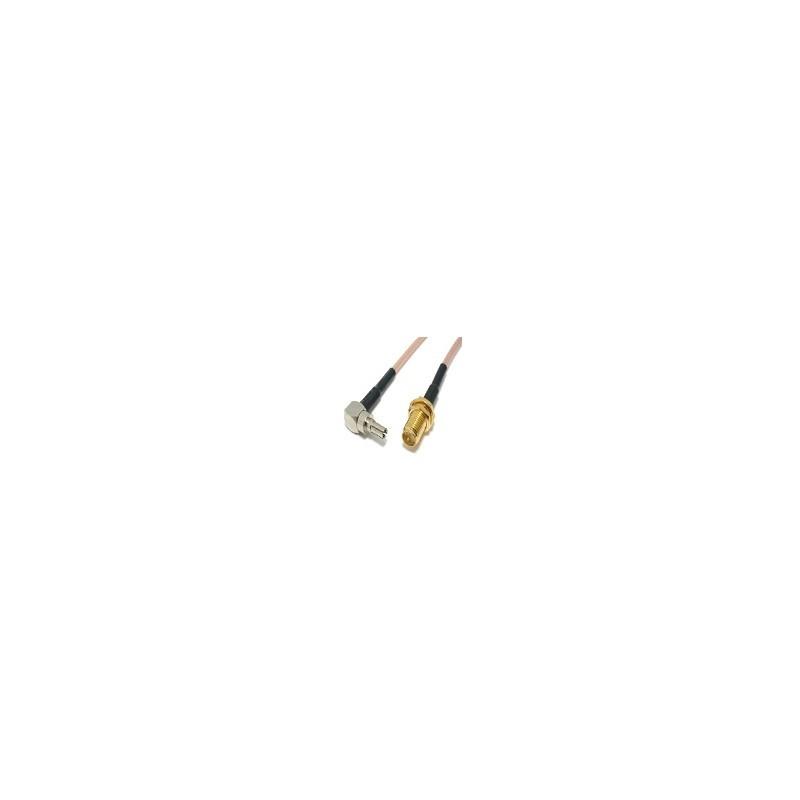 Cable Adaptador Rp Sma Macho a Crc9 Para Modem 3G 15cm