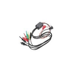 Cable Multimetro Universal Pinzas de Cocodrilo 60cm