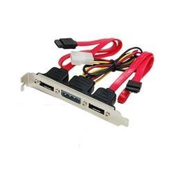 Adaptador Doble SATA a eSATA + Cable de Poder PCI Bracket