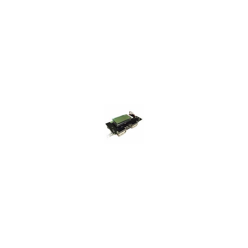 Modulo LCD de Potencia Cargador de Bateria PCB Dual USB 5v 1A 2.1A 18650 DIY LED