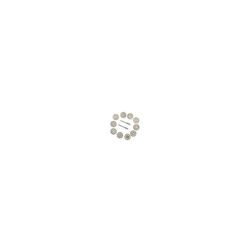 Kit 10 Discos de Corte Diamante Abrasivo Dremel 30mm