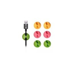 Set de 6 clips Sujeta CAble USB Organizador Colores