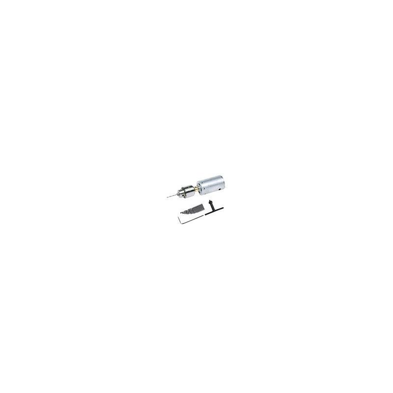 Taladro Compacto de mano 12v Electrico PCB 0.5-3mm Twist Bits