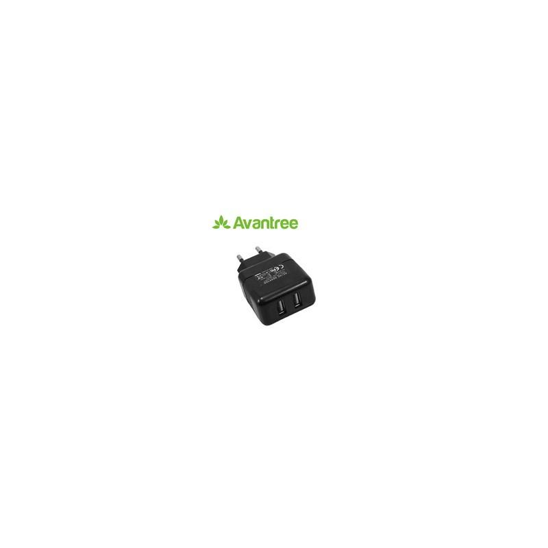 Cargador AC Dual USB 10W 5V 2.1A para iPad iPhone Tablets