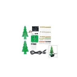 Kit Mini Arbol de Navidad 3D LED DIY