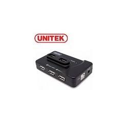 Hub 7 Puertos USB 2.0 UNITEK mas Fuente de Poder