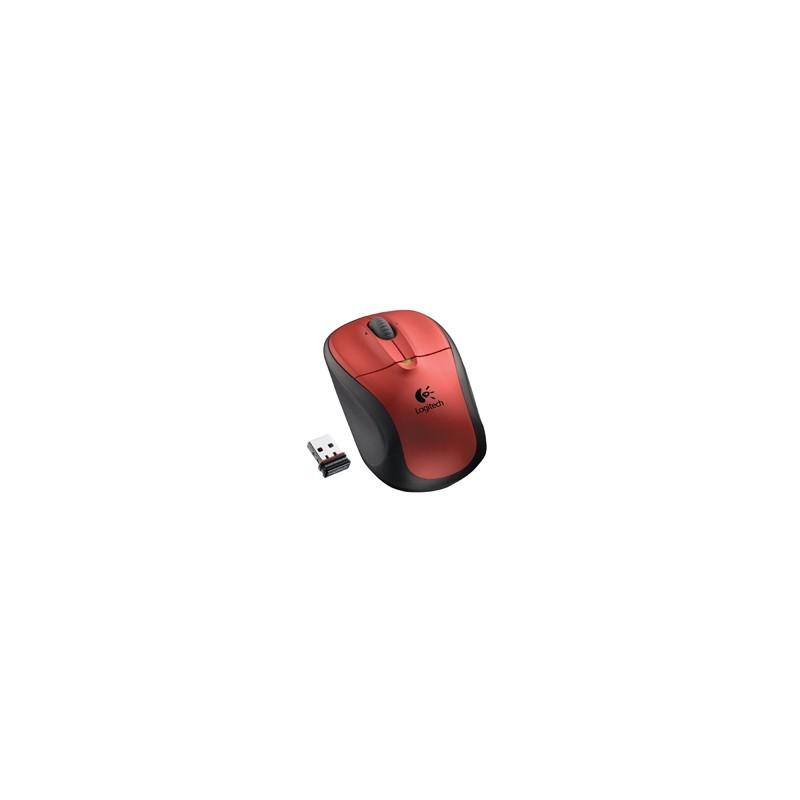 Mouse Optico Inalambrico Logitech M305 Rojo 2.4GHz