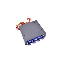 Panel Controlador  4Canales Velocidad Ventilador PC LED Azul 12V