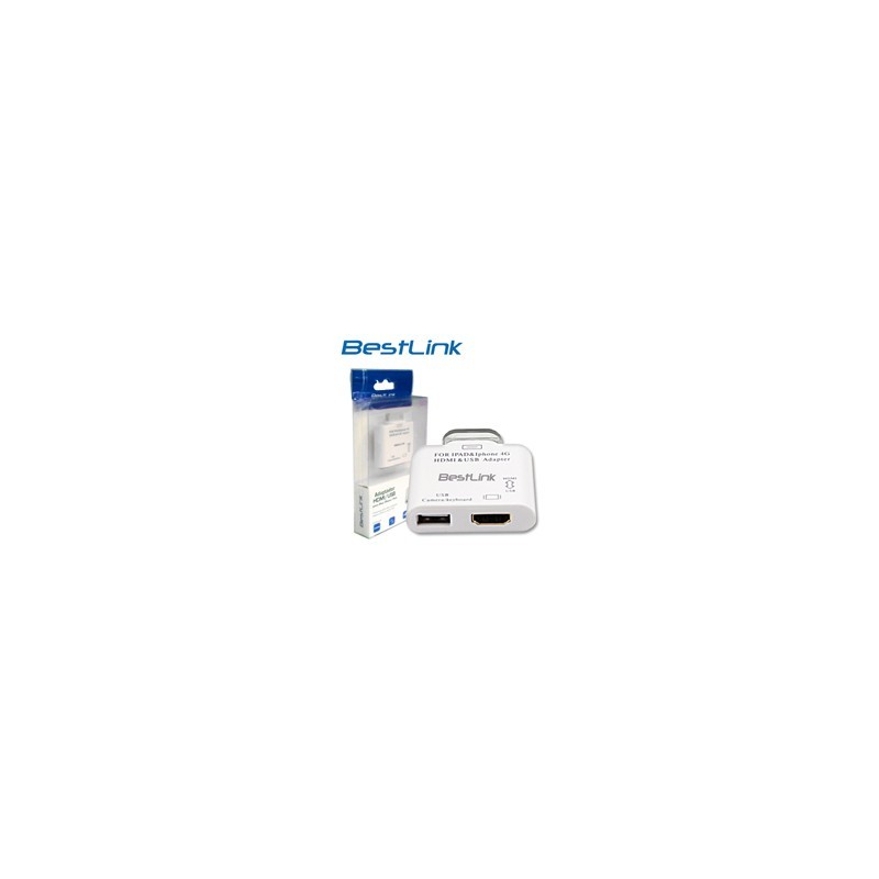 Adaptador HDMI USB para iPad iPhone iPod Conecta a TV Teclado