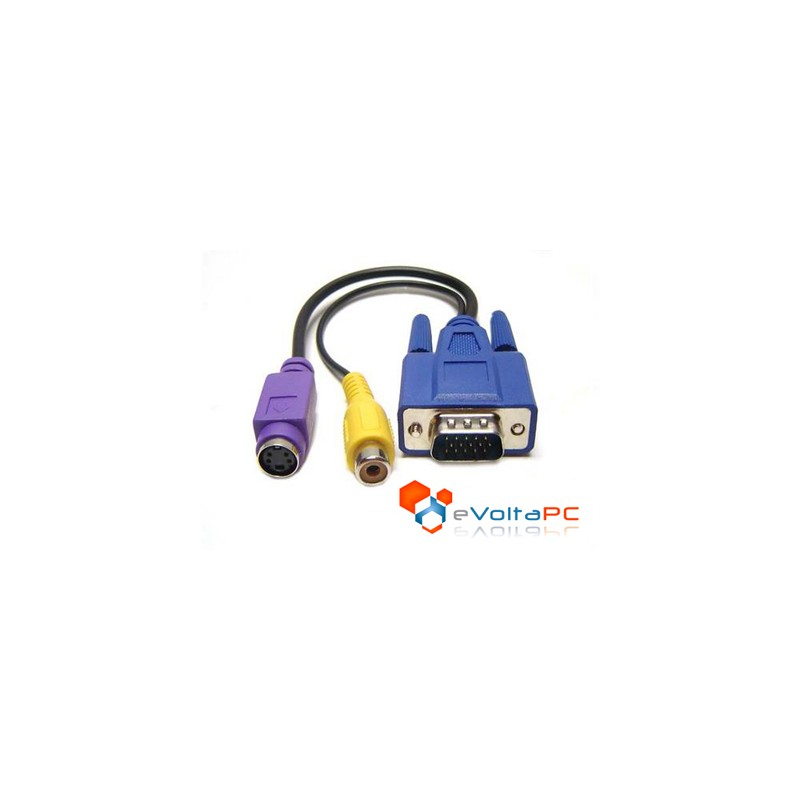 Cable VGA a S-Video y RCA
