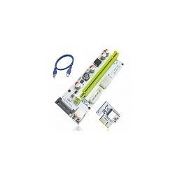 Tarjeta Vertical de Video Usb 3.0 PCIE 1x a 16x 6pin 4pin Sata V008s  Riser