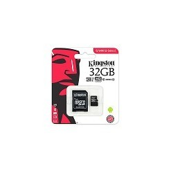 Tarjeta micro SD 32GB Kingston Canvas Select 80mb/s