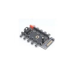 Hub Refrigeracion Splitter 1 a 10 Ventiladores 4 pin Sata 12V PWM