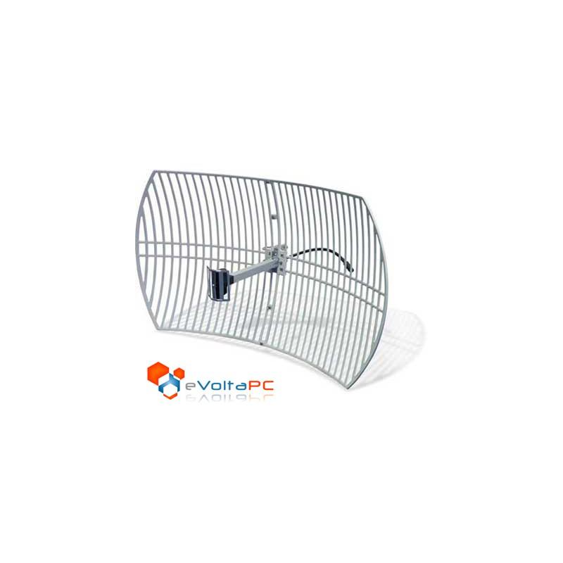 Antena Externa Wifi 24dBi Grillada Parabólica
