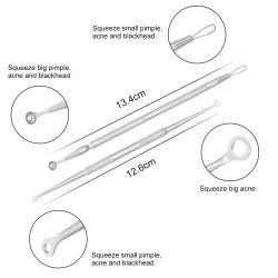 kit 7 extractores de puntos negros espinillas acne premium