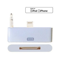 Adaptador iPhone 5 Lightning 8 Pin a 30 Pines Incluye Audio
