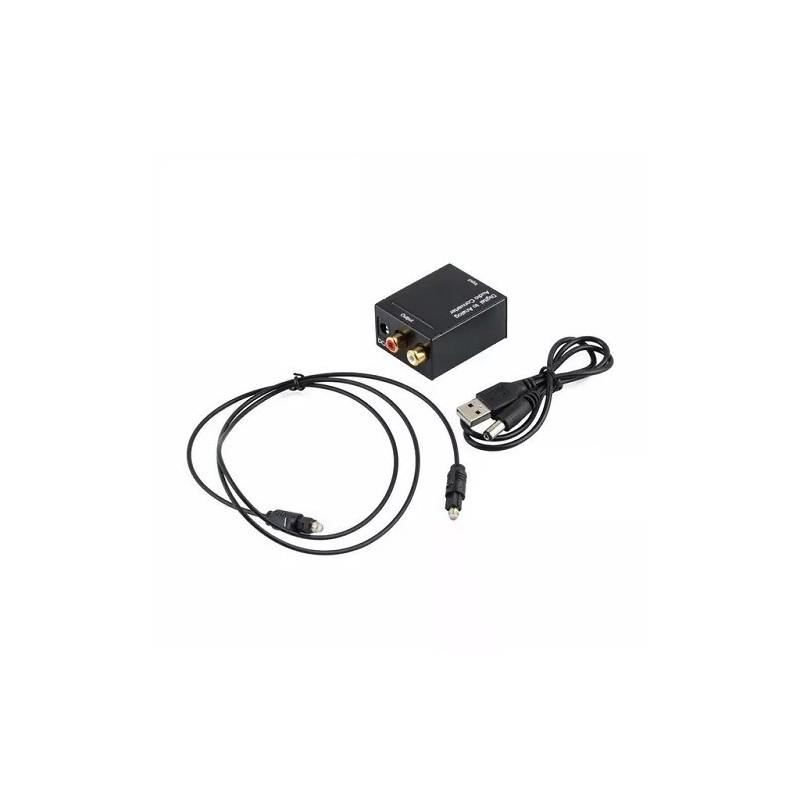 adaptador de se u00f1al digital  u00d3ptica toslink rca coaxial