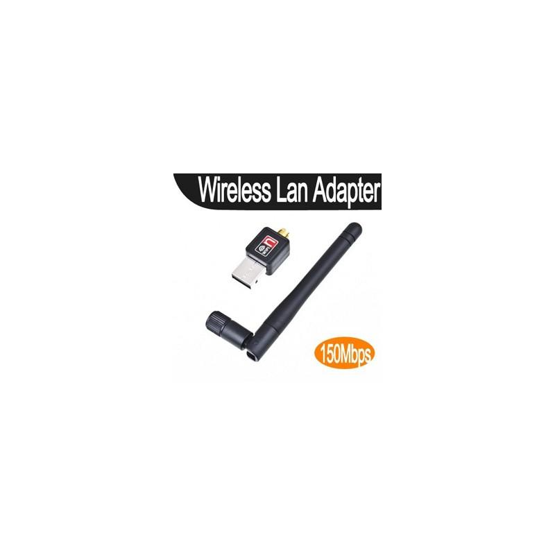 Adaptador Wifi 150mbps Mini Antena 2dbi Chip Ralink RT5370