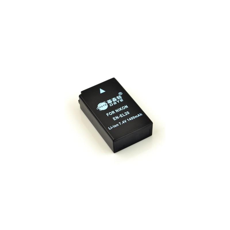 Batería DSTE Reemplaza Nikon EN-EL20 para Nikon 1 AW1 J3 J2 J1 S