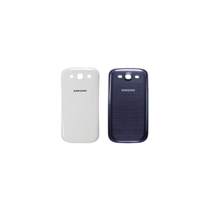 Tapa Carcaza Trasera Samsung S3 i9300 Azul Blanco