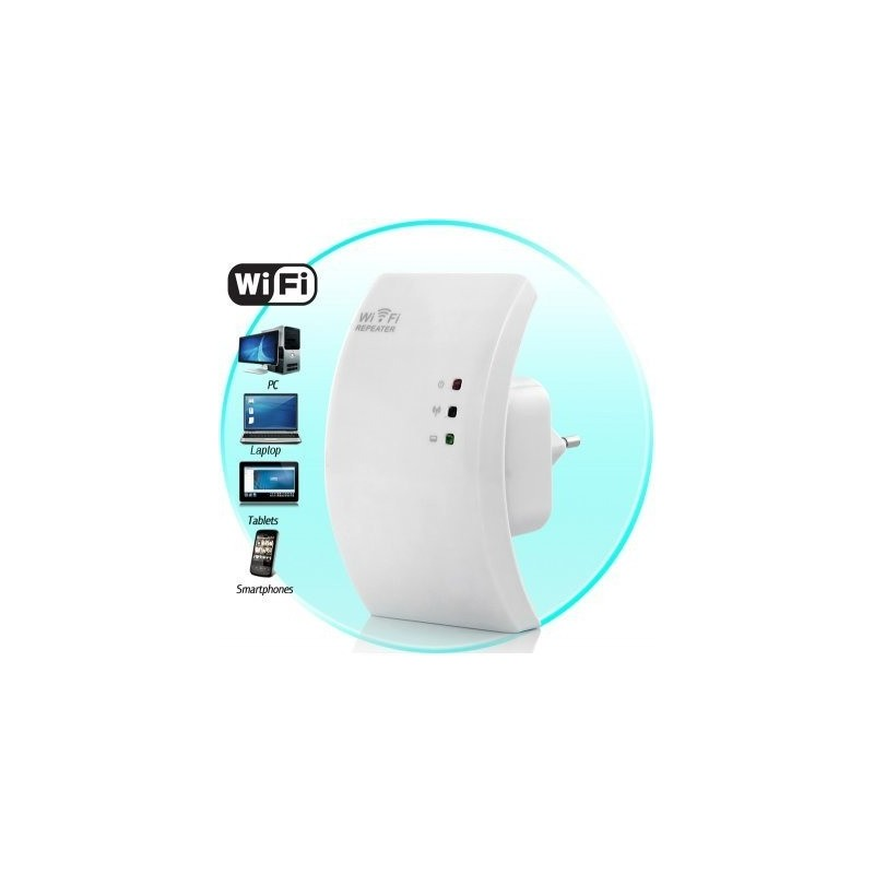 Repetidor Wifi Facil Configuracion 300Mbps RJ45 Norma N WPA