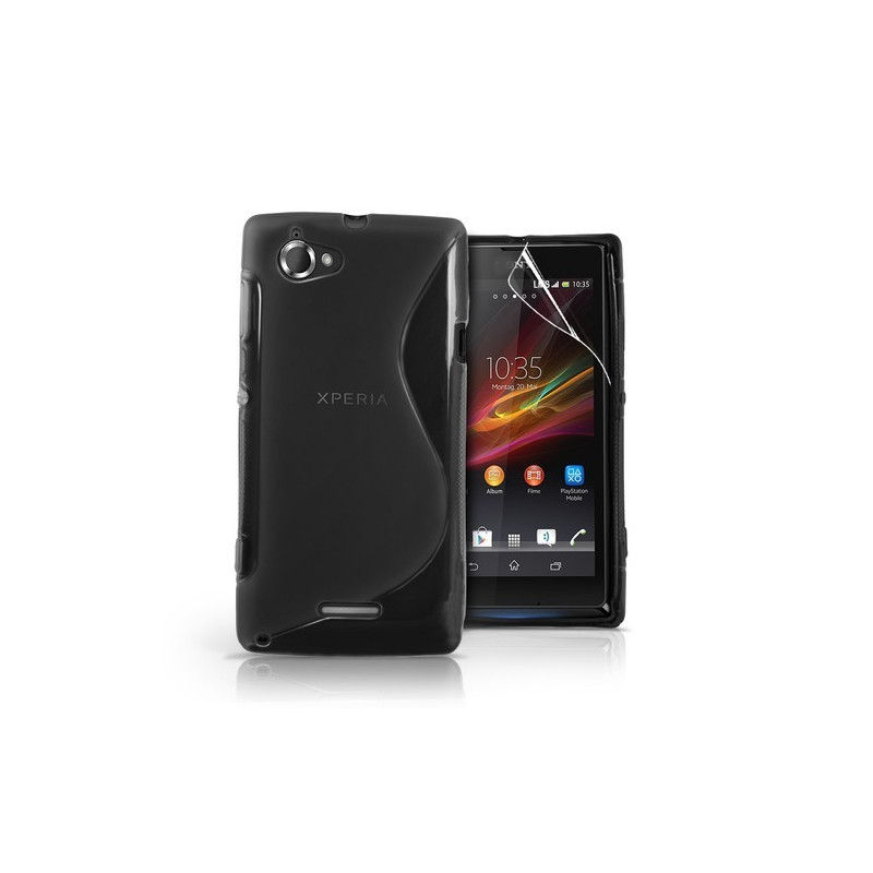 Carcasa Silicona Gel Tpu Para Sony Xperia L S36h + Lamina