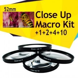 Filtro Macro 58mm Kit 4 Unidades +1 +2 +4 +10 con Funda