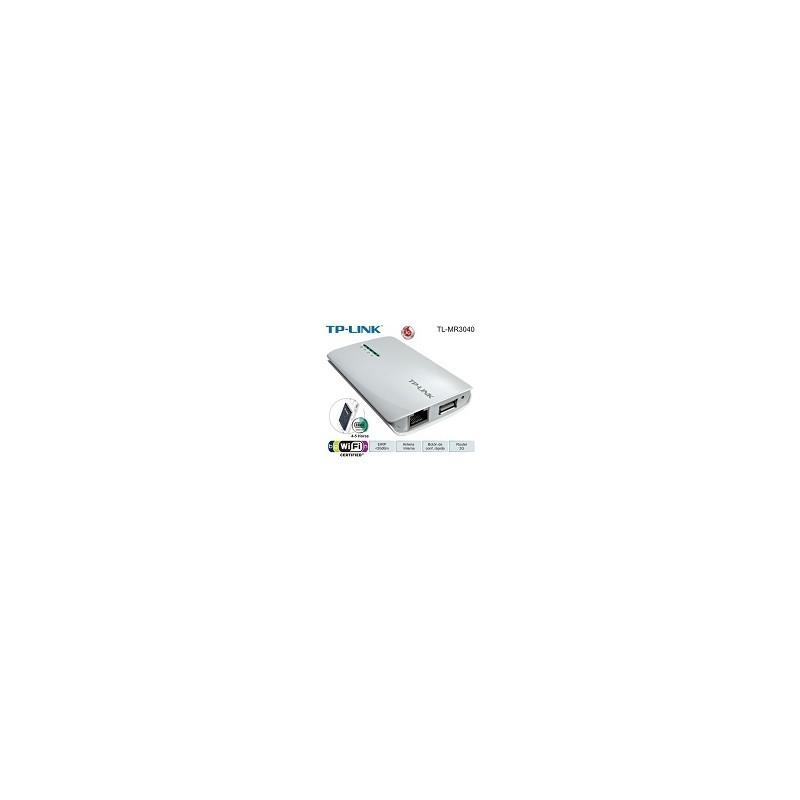 Router 3G Con Bateria Recargable TP-LINK TL-MR3040 N 150Mbps
